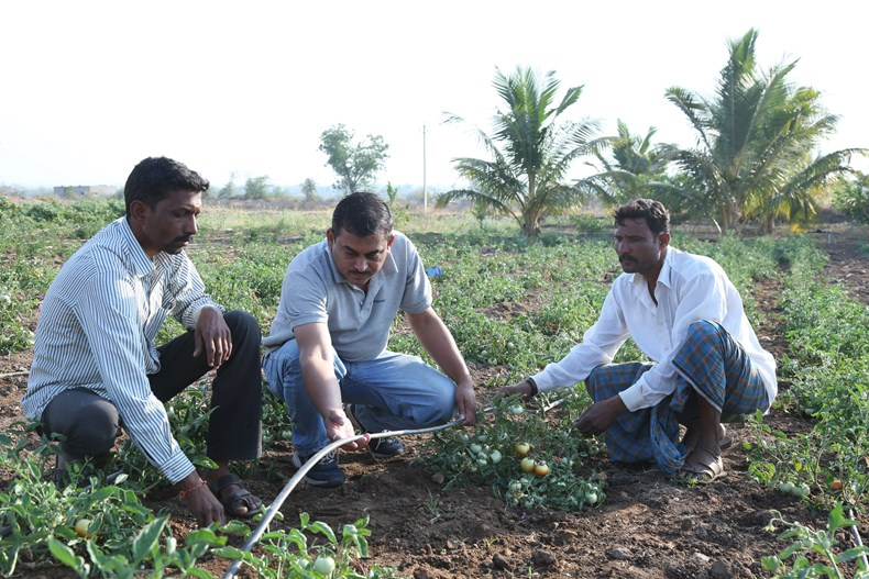 India Ramthal, farmers at work